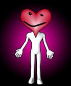 Heart Face Figure — ストック写真