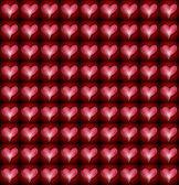 赤とピンクのハート柄 — ストック写真