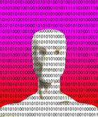 Binary Artificial Intelligence — Stock Photo