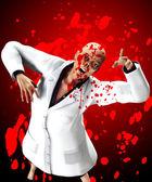 Blutigen zombie-krankenschwester — Stockfoto