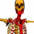 Cartoon Skeleton With Blood  — Stockfoto