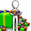 Stock Photo: Happy Birthday Presents