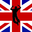 Jump For Britain — Stock Photo