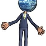 Mr Earth Head — Stock Photo