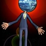 Mr Earth Head — Stock Photo #17981685