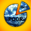 Stock Photo: Rich Poor Divide