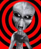 Angry Alien — Stock Photo