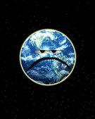 哭泣的地球 — 图库照片
