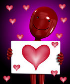 Love Hurts Coming Of Love Sign — Stock Photo