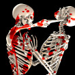 Bloody Fighting Skeletons  — Foto Stock