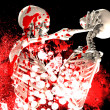 Bloody Fighting Skeletons — Stock Photo