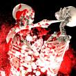 Bloody Fighting Skeletons — Stock Photo