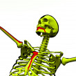 Cartoon Skeleton With Blood  — Foto Stock