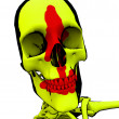 Royalty-Free Stock Photo: Cartoon Skeleton With Blood