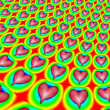 Fractal Hearts - Stock Photo