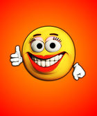 Thumbs Up With Smiles — Stock Photo