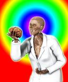 Hjärnan i handen i x-strålar läkare — Stockfoto
