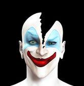 Split Apart Clown — Stock Photo