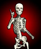 Quizzical Skeleton — Stock Photo