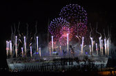 Olympic Fireworks In Stratford London 12th August 2012 — Stock Photo