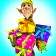 Royalty-Free Stock Photo: Elf holding presents
