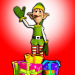 Elf with presents — Stok Fotoğraf #23286432