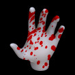 Hand of blood  — Stock Photo