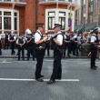 ������, ������: Police watch the Julian Assange protest outside the Ecuadorian Embassy