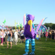 Purple giant bird at the London mega Mela festival In Gunnersbury Park — Stock Photo