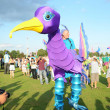 Purple giant bird at London megMelfestival In Gunnersbury Park — Stock Photo #23287862