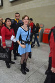 Costumed at destination Star Trek in London Docklands October 20th — Stock Photo