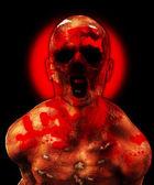 Horrible zombie — Stock Photo