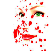 Pale face and blood — Stock Photo