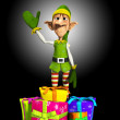Elf With Presents — Stockfoto