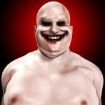 Fat Horrible Clown — Stock Photo