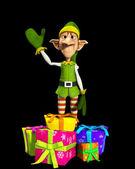 Elf With Presents — Stock Photo