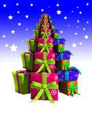 Dárky vánoční strom — Stock fotografie
