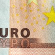 EURO-sign on a note — Stock Photo
