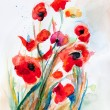 Poppy - watercolor — Stock Photo #16760867