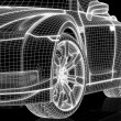 Front of a car (contruction wire) - Stockfoto