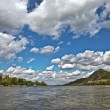 Stock Photo: Clouds over Rhine