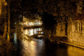 Little river in a old village — Stock Photo