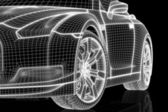 Front of a car (contruction wire) — Stockfoto