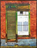 Oil painting - Window composition — Stock Photo