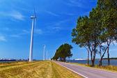 Windkraft im Hafen — Stock Photo