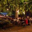 Evening in the beer garden — Stock Photo