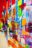 Abstract structures painted in oil — Stock Photo