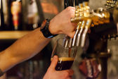 Dark ale beer — Stock Photo