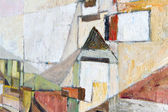 Sacral architecture (oil painting in focus) — Stock Photo