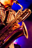At the baritone sax — Stock Photo